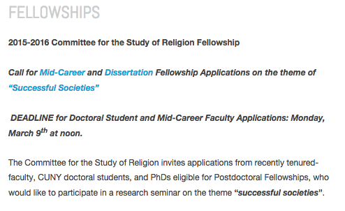 2015-2016 Fellowship Competition Now Open!
